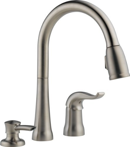 If You Have A Sink That Has Three Holes, Then This Faucet Will Fit  Perfectly In Your Kitchen. The Delta 16970 SSSD DST Kate Faucet Is Really  Easy To Be ...