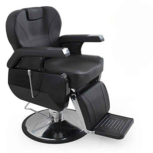 UPC 846183117193, Bellavie Deluxe Hydraulic Barber Chair Beauty Shop Reclining, Salon Equipment, Black