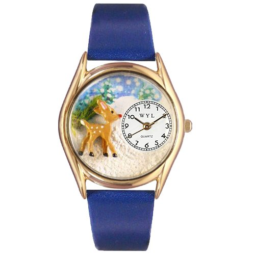 Christmas Reindeer Watch Small Gold Style