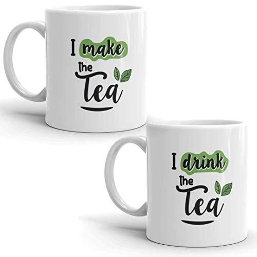Oye Happy Ceramic Tea/Coffee Mug – 2 Pieces, Multicolour, 330 ml Price & Reviews