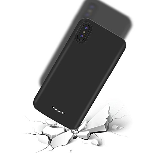 iPhone X Battery Case - Tech Care 6000mAh Portable Charging Case Rechargeable Protective Extended Battery Juice Pack for iPhone X 5.8 inch (Black) by Tech Care (Image #2)