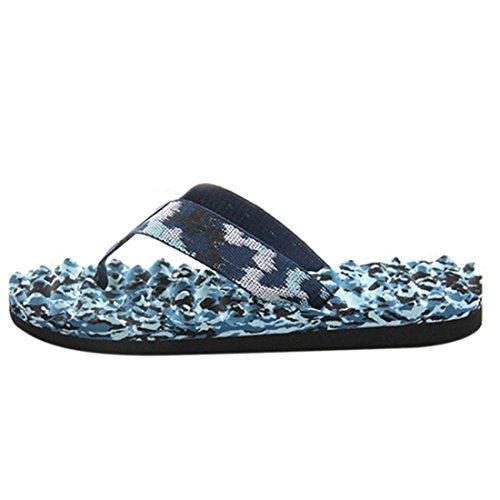 Jiyaru Men EVA Camouflage Slipper Flat Beach Shower Sandal Flip Flop Blue Jc8rMp6Yx8