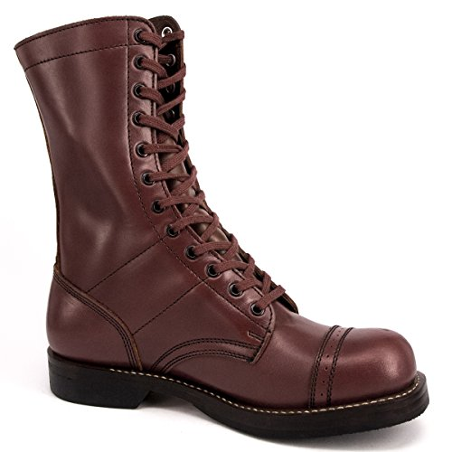 WIDEWAY Men's Military Jump Boots Leather Combat Duty Boots Enforcer Uniform Work Water Resistant Boots