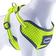 ThinkPet Reflective Breathable Soft Air Mesh No Pull Puppy Choke Free Over Head Vest Ventilation Harness for P
