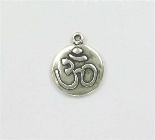 - Sterling Silver '',aum or om'', Charm - Jewelry Accessories Key Chain Bracelet Necklace Pendants