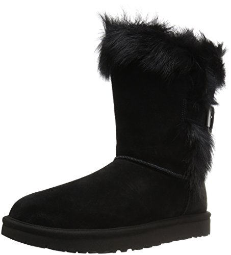 UGG Women's Deena Winter Boot, Black, 8 M US
