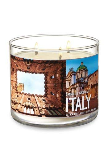 Bath & Body Works 3 Wick Scented Candle- Cannoli & Chocolate - ITALY - 14.5 Ounce