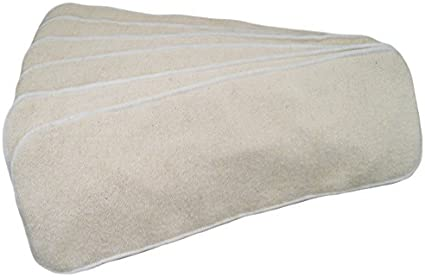 6 Pack cáñamo algodón orgánico + microfibra 4 Capas pañal de tela Inserta Grande 14 X 5: Amazon.es: Bebé