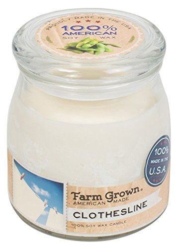 Clothesline Farm (CLOTHESLINE Farm Grown American Made 14oz Scented Soy Jar Candles)