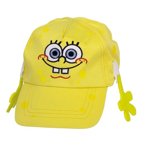 Amscan Boys Silly SpongeBob Party Deluxe Baseball Cap (1 Piece), Yellow, 6''x 10'' by Amscan