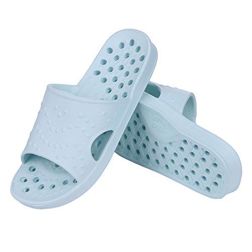Shevalues doccia Sandalo Pantofole Asciugatura Rapida Da Bagno Pantofole Pantofole Da Ginnastica Morbida Suola Aperta Pantofole Casa Blu