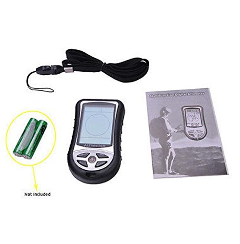 BW New 8 In 1 Digital Compass LCD Altimeter Barometer Thermometer Black