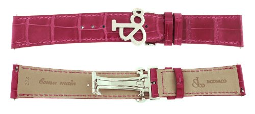 Jacob & Co. Genuine Real Alligator Pink Short Band Strap 22SMM For 47MM Watch by Jacob & Co.