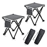 2 Pack Camping Stool, 13.8 Inch Portable Folding