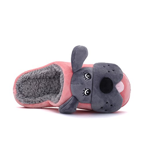 Inverno fankou cute cane elemento cartoon home giovane cotone e multi-colore opzionale in cotone leggero pantofole ,37, marrone