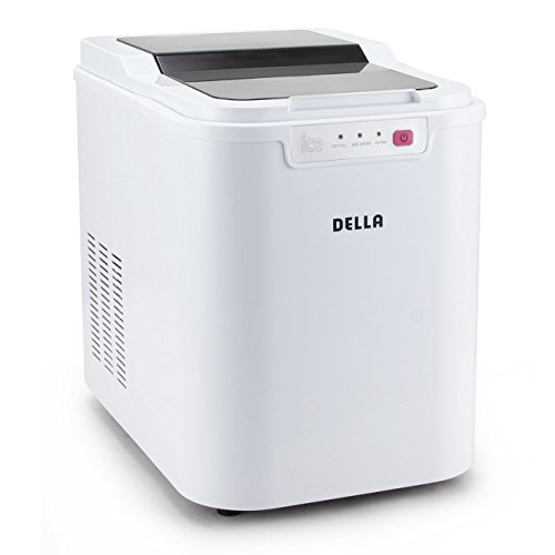 DELLA 048-GM-48224 Ice Maker Electric Machine Countertop, White, Small (Ice Machine Bin)