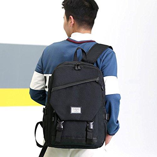 Black Black Laptop TOOGOO Bookbag School for College Men and Backpack Women Lightweight Backpack Travel UqO7wTnpO