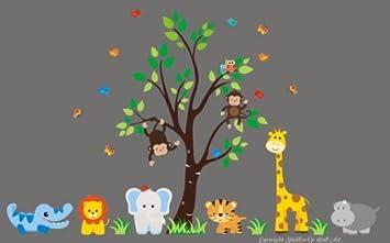 Amazoncom Baby Nursery Wall Decals Safari Jungle Childrens - Nursery wall decals jungle
