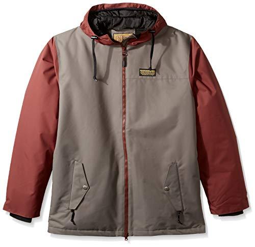 Airblaster Snowboard - AIRBLASTER Men's Insulated Outerwear Toaster Jacket, Grey Oxblood, X-Large