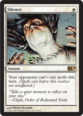Magic: the Gathering - Silence (35/249) - Magic 2014 - Foil