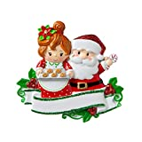 Personalized Santa & Mrs Claus Christmas Tree Ornament 2019 - Sweet Couple Mr Red Suit Made Love Gingerbread Cookie Tray Activity Together Birthday Holiday Tradition Friend Year - Free Customization