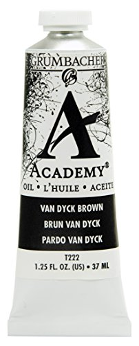 Grumbacher Academy Oil Paint, 37ml/1.25 Ounce, Van Dyke Brown (T222)