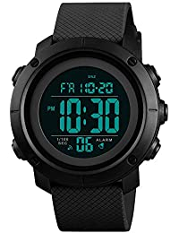 Boys Watch Digital Sports Waterproof Military Back Light Teenager Watch Black (Age for 11-15) 1426