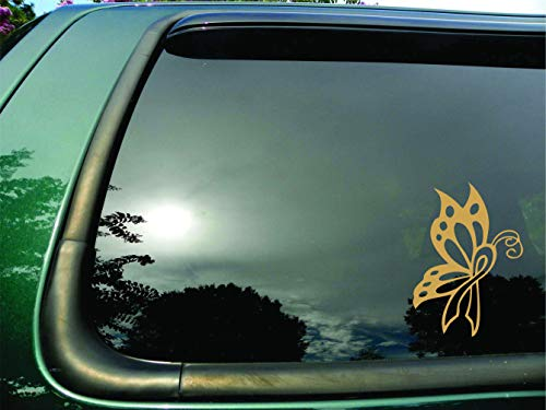Butterfly Ribbon Gold Childhood Cancer - Die Cut Vinyl Window Decal/sticker for Car or Truck 5