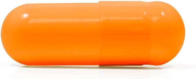 Capsuline Orange Flavored Gelatin Empty Capsules Size 00 Orange/Orange 5000 Count  Kosher & Halal Certified  Gluten Free