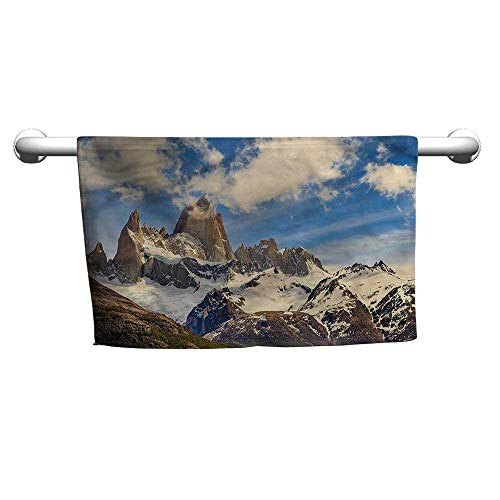 flybeek Pattern Hand Towels Landscape,Frozen Rocky Mountains,Towel Sets for Bathroom