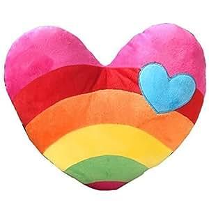 Coxeer® Love Rainbow Clouds Heart-shaped Lovers Plush Cushions Pillow- Love Heart Model: