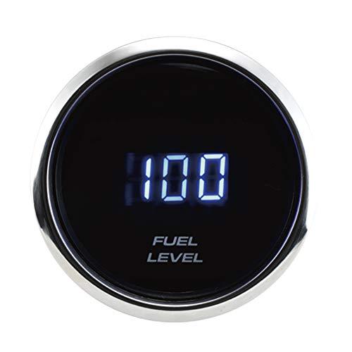 MOTOR METER RACING Electronic Digital Fuel Gauge 2 Blue LED Display Dimmer  Waterproof Pin-Style Install
