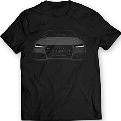 Audi RS7 S7 A7 T-Shirt Black Tee Mens Gift Idea Garment Apparel 100% Cotton Holiday Gift Birthday (M, Black)