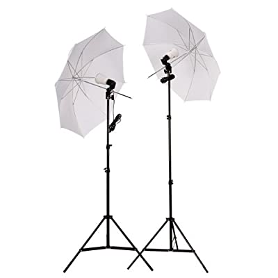 CowboyStudio 2 Photography Studio Continuous Lighting Kit with Two 45w 5000k Day-Light Fluorescent Photo Light Bulbs