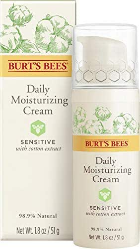 Burt's Bees Daily Face Moisturizer Cream for Sensitive Skin, 1.8 Ounces