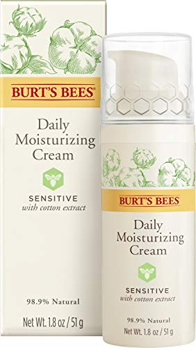 Burt's Bees Daily Face Moisturizer Cream for Sensitive Skin, 1.8 Oz (Package May Vary)
