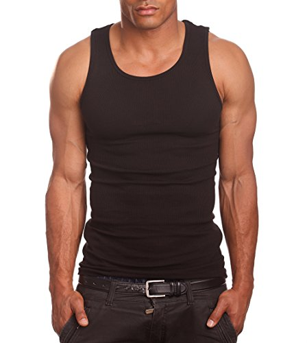 Mens A-Shirts 3 Pack Undershirt, X-Large, Black by PRO 5