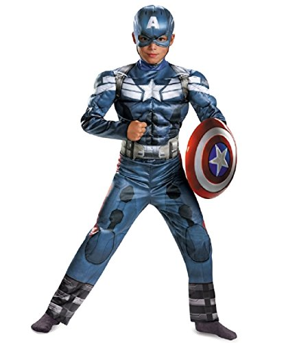 Captain America The Winter Soldier Child Muscle Costume Size: Large 10-12 - Winter Soldier Muscle Adult Costumes