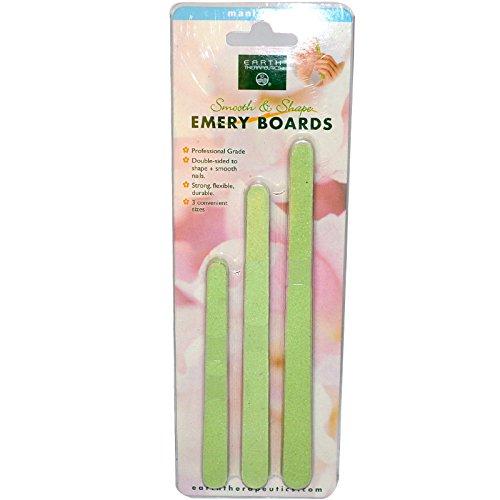 Earth Board (Earth Therapeutics, Emery Boards, Nail Filers, 15 Boards - 2pc)