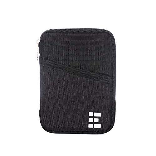 Zero Grid Passport Wallet With RFID Blocking