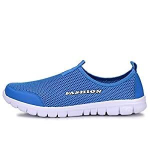 WELMEE Men's Breathable Comfortable Sneakers Lightweight Water Shoes Casual Slip-On Loafers Tennis Walking Running Shoes