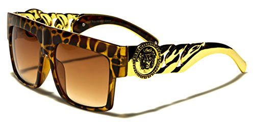 Link Hip Hop Rapper Aviator Celebrity Sunglasses TORTOISE ()