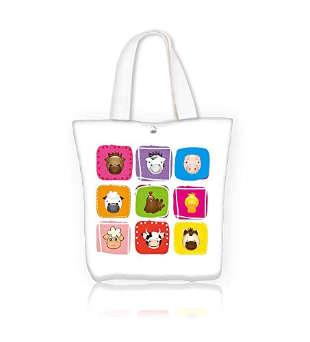 ferent Animals over colors Hanbag Women Shoulder Bag Fashion Tote Ba W12xH7.8xD3 INCH ()