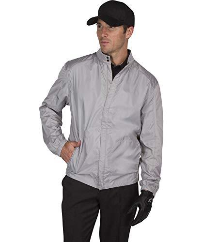 (Three Sixty Six Full Zip Golf Jacket for Men - Lightweight Mens Rain Coat - Water Resistant Windbreaker)