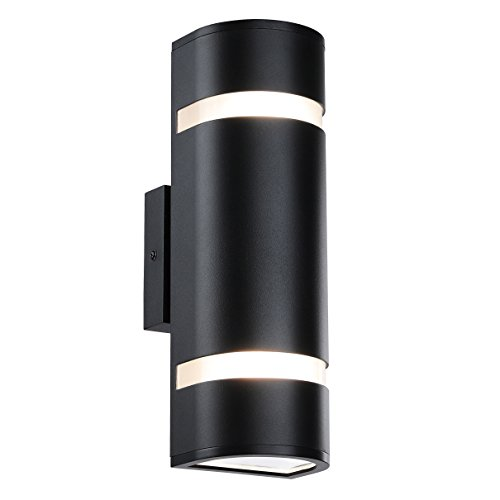 Cheap  Outdoor Wall Light in D Shape with Aluminum Modern Wall Sconce Black..