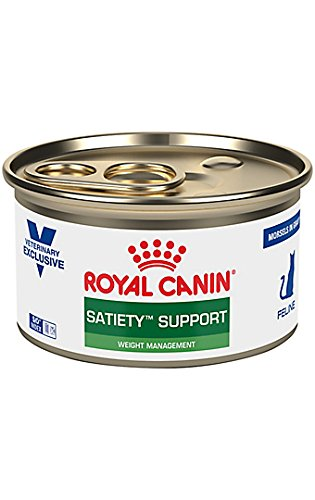 Royal Canin Veterinary Diet Feline Satiety Support Weight Management Morsels in Gravy Canned Cat Food 24/3 oz