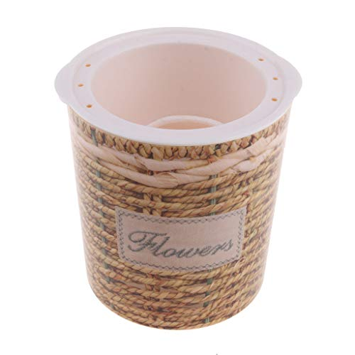 Self-Watering Plant Flower Pot Planter Home Decor Plastic Imitation Wicker M