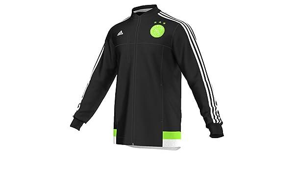 adidas 2015-2016 AJAX Anthem Jacket (Black): Amazon.es: Deportes y ...