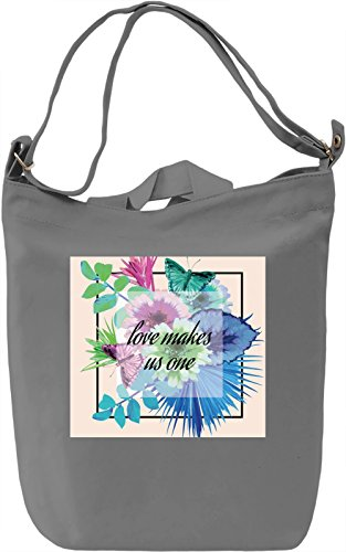 Love Makes Us One Borsa Giornaliera Canvas Canvas Day Bag| 100% Premium Cotton Canvas| DTG Printing|