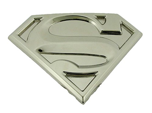 Superman Belt Buckle DC Comics Warner Bros Original Logo US American Superhero (Silver)